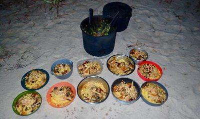 bushwalking carr boyd north tasty camp cooked food